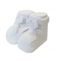 White Bow Socks