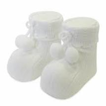 White Pom Pom Socks