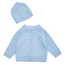 Blue Cardigan Hat Set 2