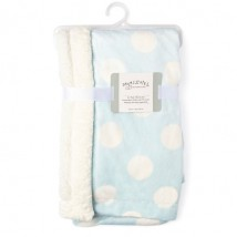 Blue Dotted Sherpa Blanket