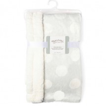 Gray Dotted Sherpa Blanket