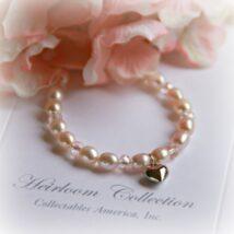 Light Pink Heart Bracelet