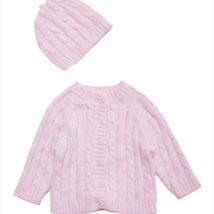 Pink Cardigan Hat Set 2