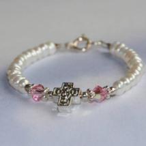 Pink Cross Bracelet
