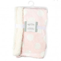 Pink Dotted Sherpa Blanket