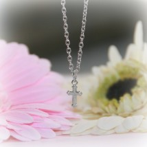 Rhodium Cross Necklace