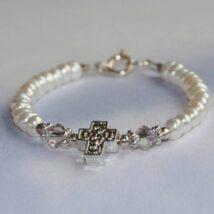 White Cross bracelet