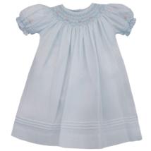 Pearl Smocked Dress -Blue or Pink