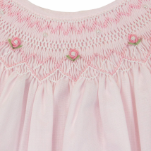 Pearl Smocked Dress- Blue or pink 2