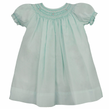 Pearl Smocked Dress- Mint